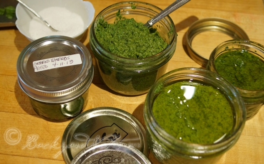 The finished pesto