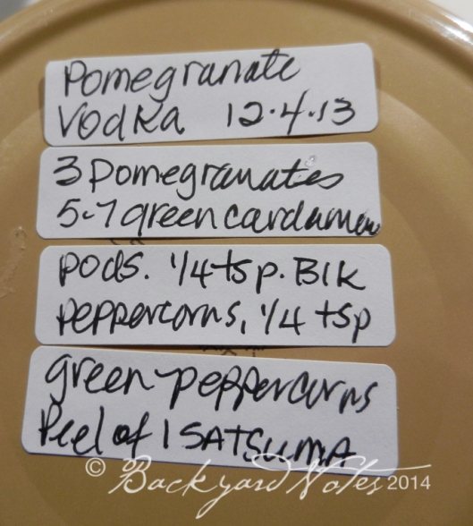 Pomegranate Vodka ingredients