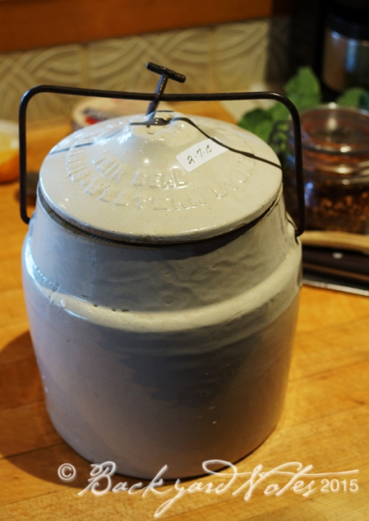 My heirloom preserving crock